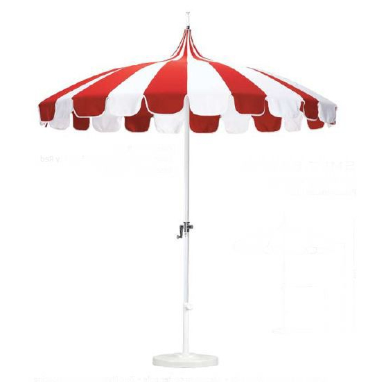 Recent Priscilla Market Umbrellas inside Red And White Striped Umbrella Garden Design Details: Retro Patio