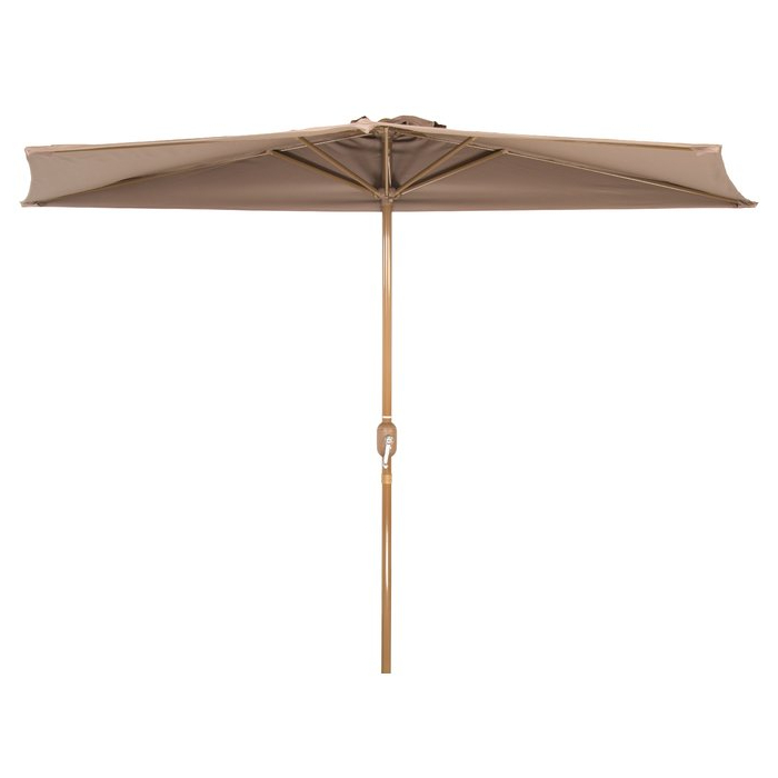 Recent Sheehan Half Market Umbrellas Intended For Hwang Patio Half (View 3 of 25)