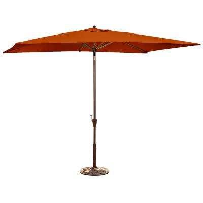 Recent Solid Rectangular Market Umbrellas Inside Island Umbrella – Orange – Solid – Market Umbrellas – Patio (View 16 of 25)