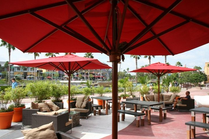 Rectangular intended for Zadie Twin Rectangular Market Umbrellas