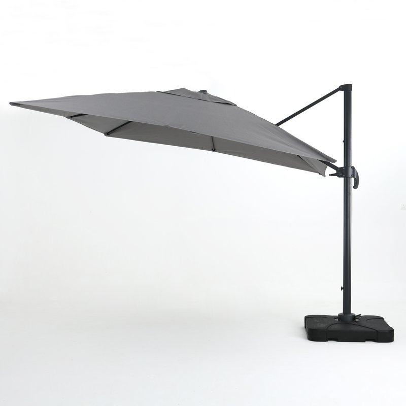 Red Barrel Studio Wardingham 9.8' Square Cantilever Umbrella for Most Recently Released Wardingham Square Cantilever Umbrellas