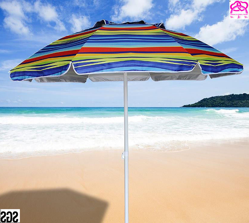 Rio Beach Deluxe 6Ft Sun Protection Beach Umbrella With Tilt , Sun in Trendy Tilt Beach Umbrellas