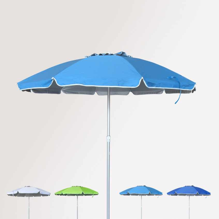Rome 220Cm Aluminium Beach Umbrella With Upf 158+ Uv Protection With 2018 Julian Beach Umbrellas (View 4 of 25)