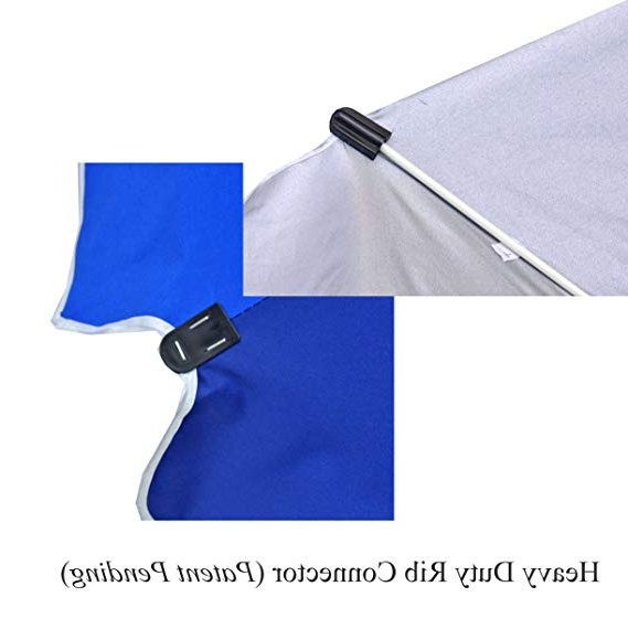 Schroeder Heavy Duty Beach Umbrellas With Best And Newest Shadezilla 8 Ft Heavy Duty Beach Umbrella With Fiberglass Ribs, Carry Bag, Accessory Hanging Hook, Upf (View 16 of 25)