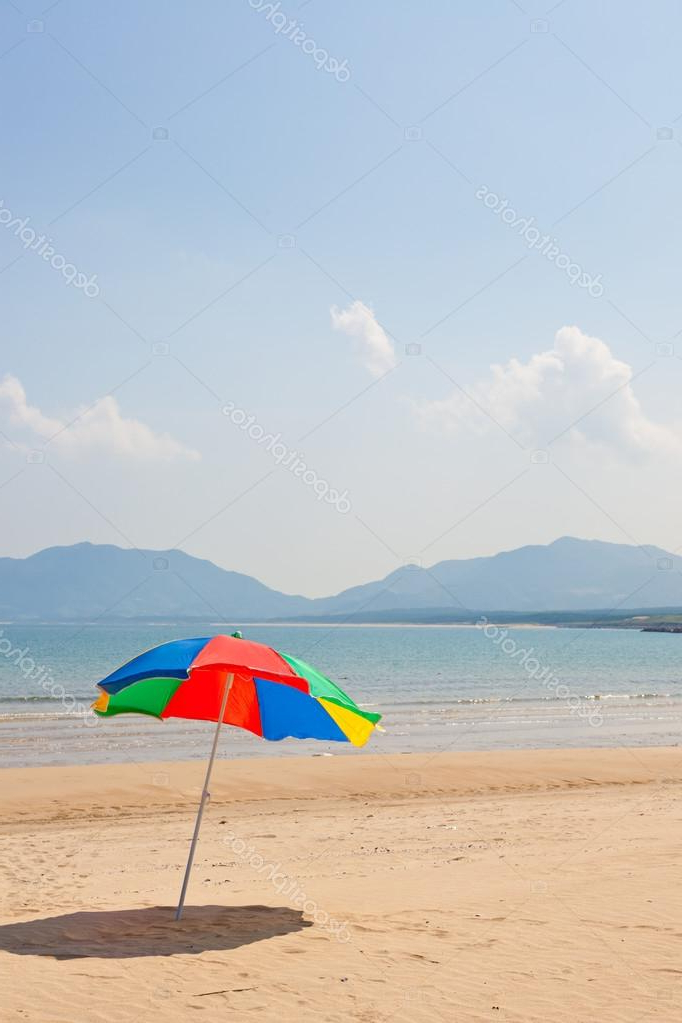 Seaside Beach Umbrella — Stock Photo © Kenjii #18363297 For Well Known Seaside Beach Umbrellas (View 8 of 25)