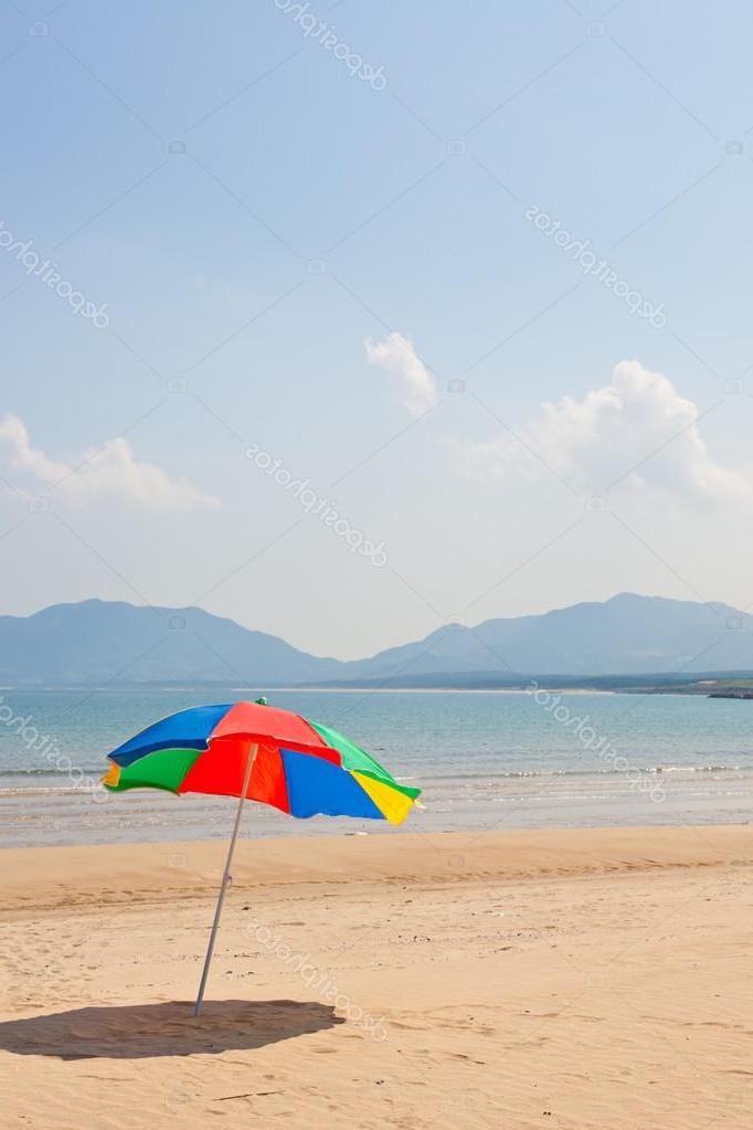 Seaside Beach Umbrella — Stock Photo © Kenjii #18363297 For Well Known Seaside Beach Umbrellas (View 15 of 25)