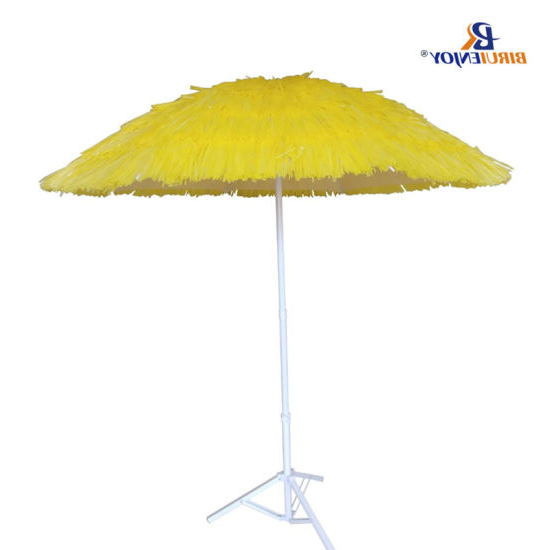 Seaside Beach Umbrellas With Recent China Big Seaside Beach Umbrella With 7 Layer Pp Straw Metal Pole  (View 21 of 25)