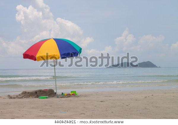 Seaside Beach Umbrellas With Regard To Most Current Tropical Beach Summer Beach Umbrella Seaside Stock Photo (Edit Now (View 22 of 25)