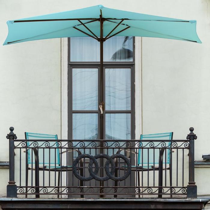 Sheehan Half Market Umbrellas Throughout Recent Half Round 9' Market Umbrella (View 20 of 25)