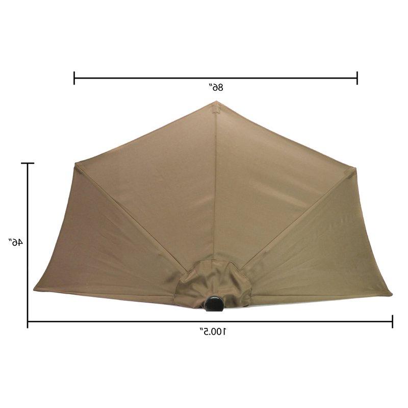 Sheehan Market Umbrella With Latest Sheehan Half Market Umbrellas (View 10 of 25)