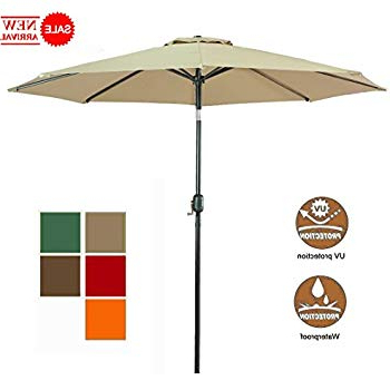 Sittard Market Umbrellas For Most Recent Amazon : Le Papillon 9 Ft Outdoor Patio Umbrella Aluminum Table (View 18 of 25)