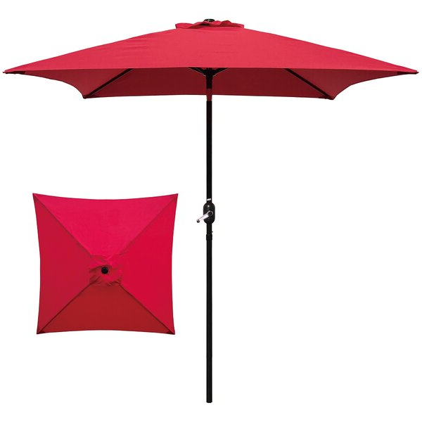 Small Patio With Regard To Most Up To Date Caravelle Square Market Sunbrella Umbrellas (View 16 of 25)