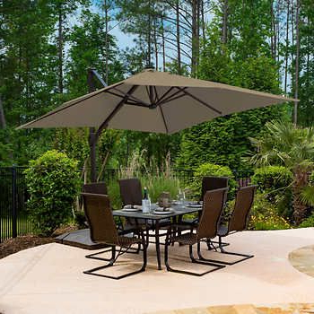 Small Pertaining To Best And Newest Krystal Square Cantilever Sunbrella Umbrellas (View 11 of 25)