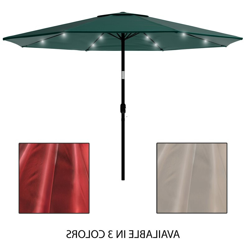 Solar Powered Led Patio Umbrella For Most Popular Solar Powered Led Patio Umbrellas (View 13 of 25)