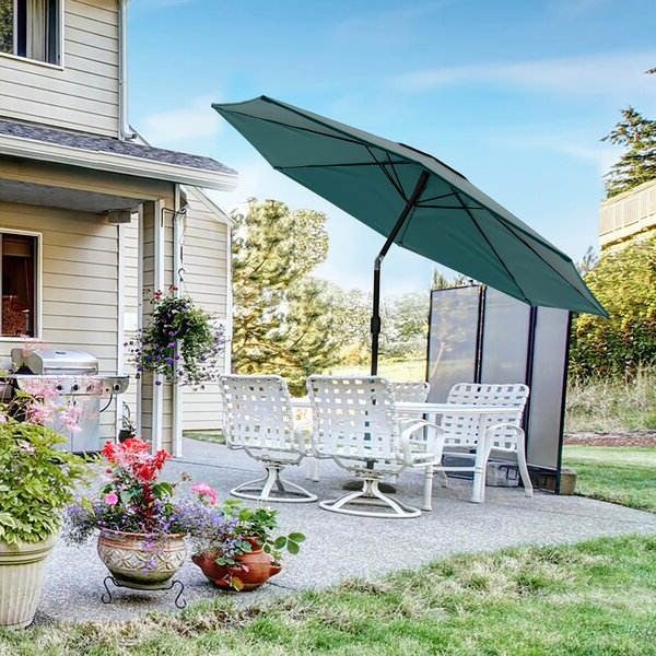 Solar Powered Led Patio Umbrella With Most Recently Released Brecht Lighted Umbrellas (View 23 of 25)