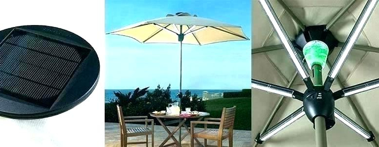 Solar Powered Led Patio Umbrellas For Widely Used Solar Lighted Patio Umbrella – Uidai (View 16 of 25)