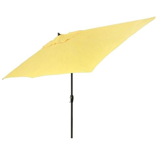 Solid Rectangular Market Umbrellas For Widely Used Yellow Outdoor Umbrella – Tyristu (View 18 of 25)