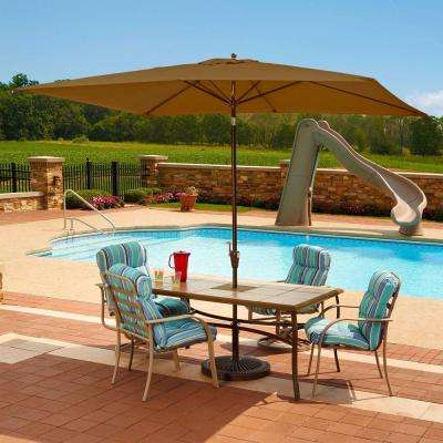 Solid Rectangular Market Umbrellas Pertaining To Favorite Island Umbrella – Solid – Patio Umbrellas – Patio Furniture – The (View 7 of 25)
