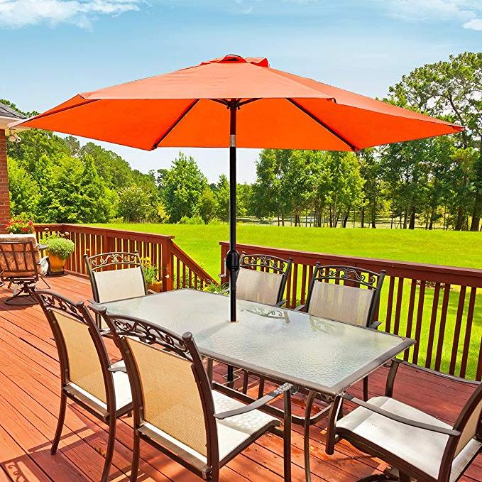 Sorbus Outdoor Umbrella, 10 Ft Patio Umbrella With Tilt Adjustment And  Crank Lift Handle, Perfect For Backyard, Patio, Deck, Poolside, And More Inside Most Recent Isom Market Umbrellas (View 9 of 25)