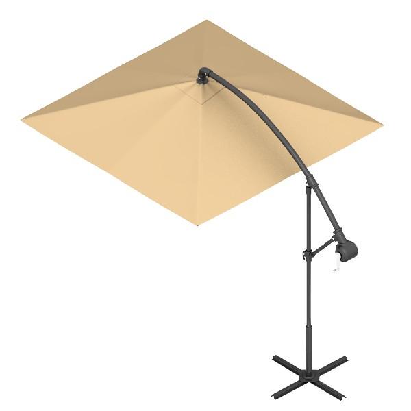 Square 10'x10' Offset Aluminum Cantilever Umbrella Within Preferred Frederick Square Cantilever Umbrellas (View 23 of 25)