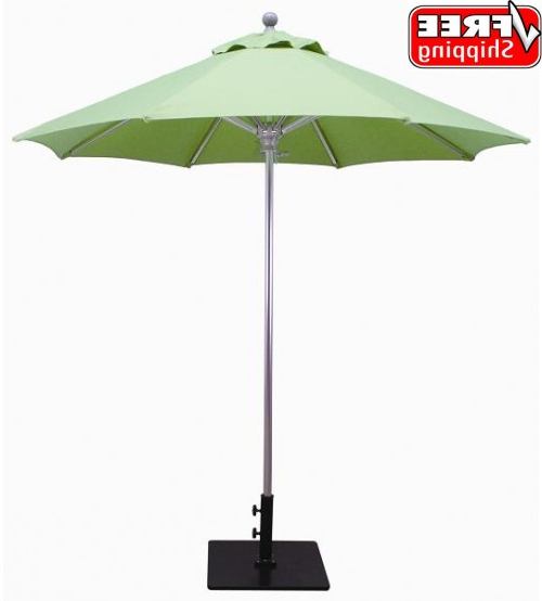 Stacy Market Umbrellas Pertaining To 2018 Best Selection Commercial Patio Umbrellas – Galtech  (View 12 of 25)