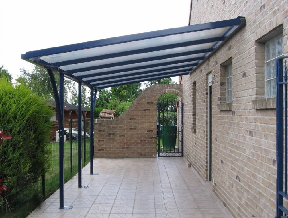 Steel Pergola With Canopy (View 20 of 25)