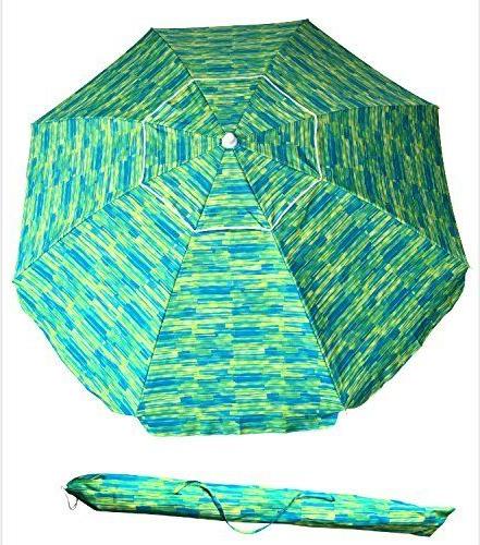 Suesport Sand Anchor 7 Feet Beach Umbrella With Tilt And Telescoping Regarding Current Schroeder Heavy Duty Beach Umbrellas (View 13 of 25)