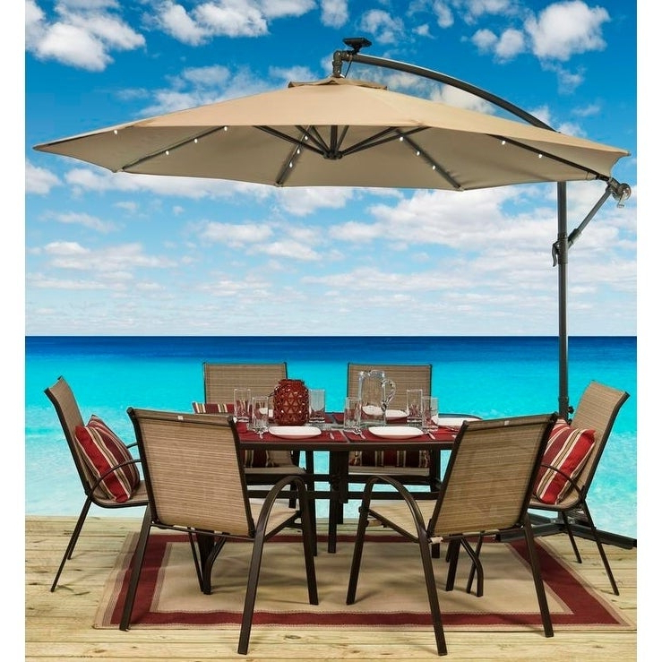 Sun Ray 10' Offset Solar Umbrella With Most Recently Released Sun Ray Solar Cantilever Umbrellas (View 12 of 25)