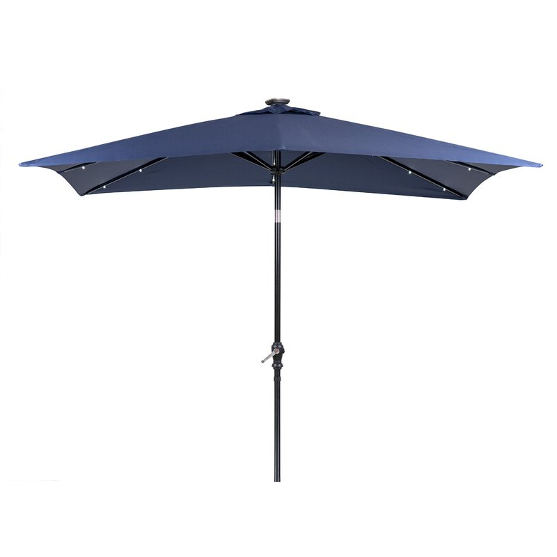 Sun Ray Solar 7' X 9' Rectangular Market Umbrella Throughout Current Sun Ray Solar Cantilever Umbrellas (View 6 of 25)