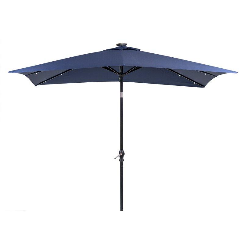 Sun Ray Solar 7' X 9' Rectangular Market Umbrella Throughout Current Sun Ray Solar Cantilever Umbrellas (View 15 of 25)