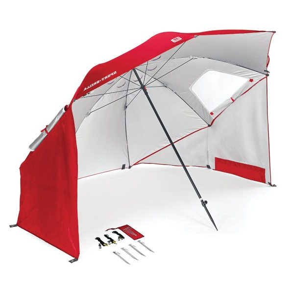 Sun Shelter Beach Umbrellas Throughout Favorite Sport Brella Portable Sun Shelter Beach Umbrella (View 21 of 25)
