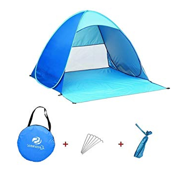 Sun Shelter Beach Umbrellas With Fashionable Leesentec Easy Pop Up Beach Tent Portable Sun Shade Sport Shelter Camping  Shelter Beach Umbrella For Outdoors With Carry Bag (View 22 of 25)