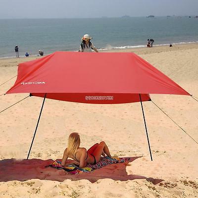 Sun Tent Beach Umbrella Lightweight Portable Camping Tent Sun Shelter Uv In Most Recent Sun Shelter Beach Umbrellas (View 24 of 25)