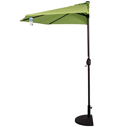 [%Sundale Outdoor 9Ft Half Market Umbrella Half Round Patio Umbrella With  Crank And Strap For Garden, Deck, Backyard, Pool, 5 Steel Ribs, 100%  Polyester In Most Up To Date Half Round Market Umbrellas|Half Round Market Umbrellas Intended For Most Recent Sundale Outdoor 9Ft Half Market Umbrella Half Round Patio Umbrella With  Crank And Strap For Garden, Deck, Backyard, Pool, 5 Steel Ribs, 100%  Polyester|Favorite Half Round Market Umbrellas In Sundale Outdoor 9Ft Half Market Umbrella Half Round Patio Umbrella With  Crank And Strap For Garden, Deck, Backyard, Pool, 5 Steel Ribs, 100%  Polyester|Most Recently Released Sundale Outdoor 9Ft Half Market Umbrella Half Round Patio Umbrella With  Crank And Strap For Garden, Deck, Backyard, Pool, 5 Steel Ribs, 100%  Polyester Pertaining To Half Round Market Umbrellas%] (View 6 of 25)