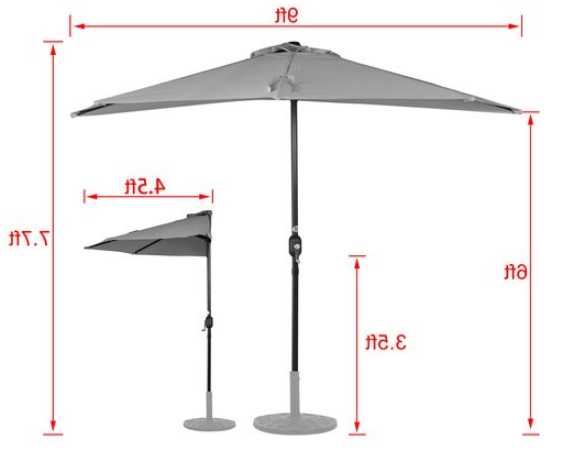 [%Sundale Outdoor 9Ft Half Market Umbrella Half Round Patio Umbrella With  Crank And Strap For Garden, Deck, Backyard, Pool, 5 Steel Ribs, 100%  Polyester Regarding Most Popular Half Round Market Umbrellas|Half Round Market Umbrellas With Regard To Most Popular Sundale Outdoor 9Ft Half Market Umbrella Half Round Patio Umbrella With  Crank And Strap For Garden, Deck, Backyard, Pool, 5 Steel Ribs, 100%  Polyester|Widely Used Half Round Market Umbrellas Inside Sundale Outdoor 9Ft Half Market Umbrella Half Round Patio Umbrella With  Crank And Strap For Garden, Deck, Backyard, Pool, 5 Steel Ribs, 100%  Polyester|2017 Sundale Outdoor 9Ft Half Market Umbrella Half Round Patio Umbrella With  Crank And Strap For Garden, Deck, Backyard, Pool, 5 Steel Ribs, 100%  Polyester Throughout Half Round Market Umbrellas%] (View 14 of 25)