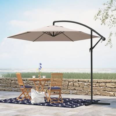 Tallulah Sunshade Hanging Outdoor Cantilever Umbrellas Pertaining To Widely Used Outsunny 10' Cantilever Umbrella & Reviews (View 22 of 25)