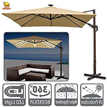Tallulah Sunshade Hanging Outdoor Cantilever Umbrellas Regarding Preferred Amazon : Strong Camel 10' Cantilever Patio Umbrella Offset (View 8 of 25)
