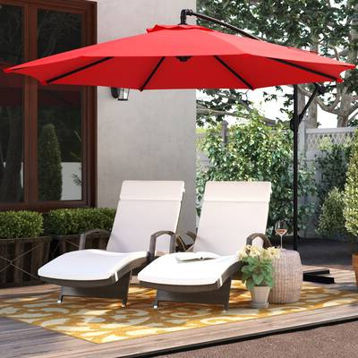 Tallulah Sunshade Hanging Outdoor Cantilever Umbrellas With Newest Charlton Home Driskill Hanging Patio 10' Cantilever Umbrella (View 11 of 25)