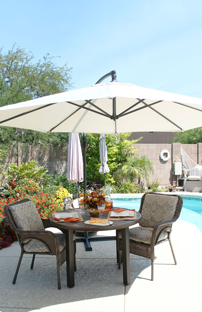 Taste Of Summer – Sponsoredwayfair – A Stroll Thru Life With Most Up To Date Irven Cantilever Umbrellas (View 23 of 25)
