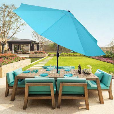 Taube Market Umbrellas Regarding Well Known Beachcrest Home Kelton 10' Market Umbrella Fabric Color: Blue In (View 9 of 25)