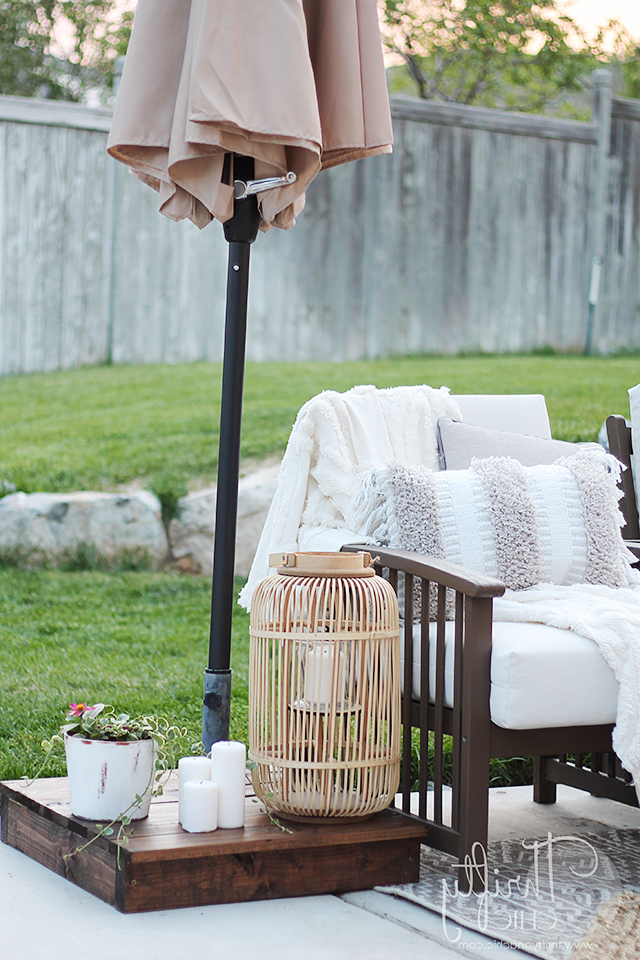 Thrifty And Chic With Alder Half Round Outdoor Patio Market Umbrellas (View 22 of 25)