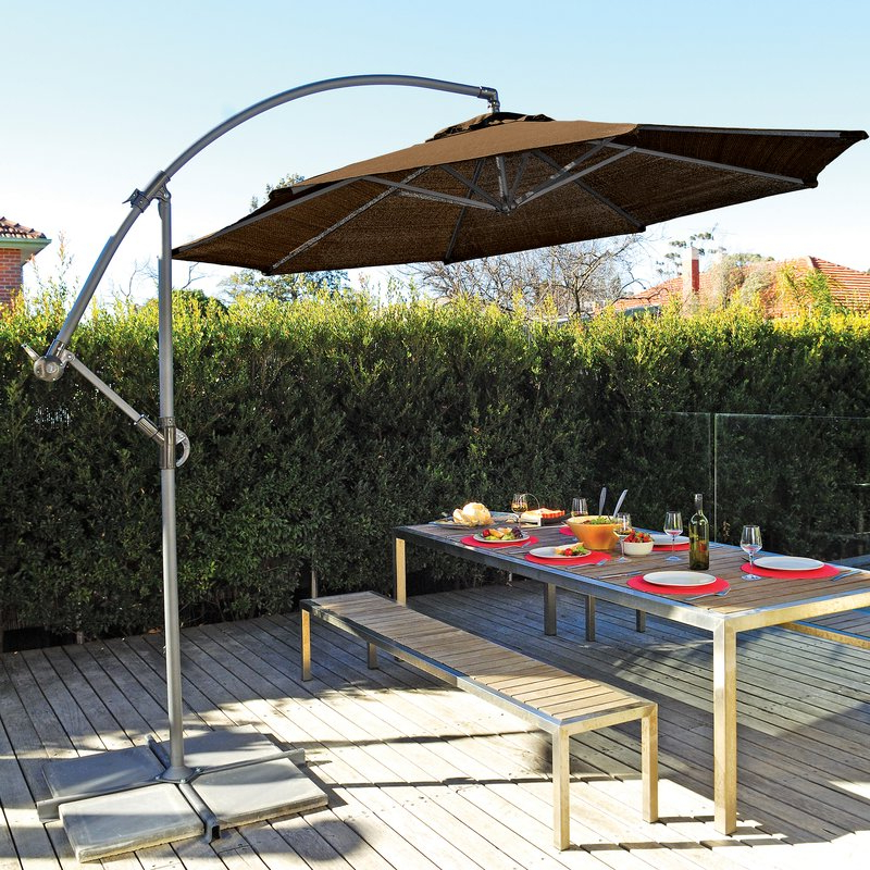 Tilda Cantilever Umbrellas Throughout Best And Newest Coolaroo 10' Cantilever Umbrella (View 3 of 25)