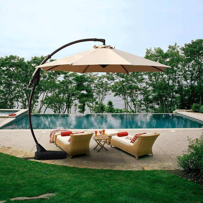 Tilda Cantilever Umbrellas With Favorite Tilda 11' Cantilever Umbrella (View 4 of 25)