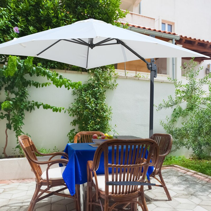 Tilda Cantilever Umbrellas With Widely Used Holbeach 8 Square Cantilever Umbrella (View 11 of 25)