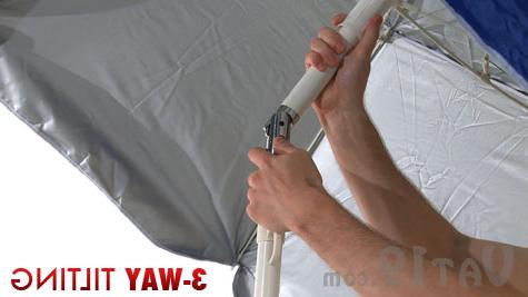 Tilt Beach Umbrellas Within Trendy Portabrella Travel Beach Umbrella: Lightweight And Compact (View 14 of 25)