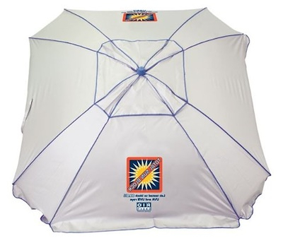 Total Sun Block Extreme Shade Beach Umbrellas Inside Most Current Rio Brands Extreme Shade Total Sun Block Beach Umbrella Shelter W/ Window  And Anchor (View 10 of 25)