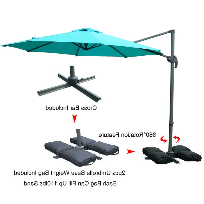 Tottenham Patio Hanging Offset 10' Cantilever Umbrella In Well Liked Tottenham Patio Hanging Offset Cantilever Umbrellas (View 4 of 25)