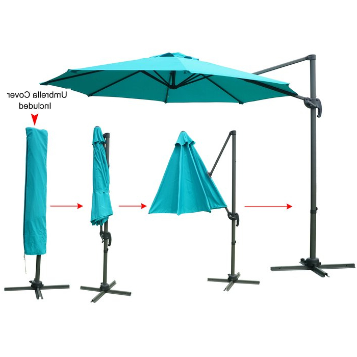 Tottenham Patio Hanging Offset 10' Cantilever Umbrella Pertaining To 2018 Tottenham Patio Hanging Offset Cantilever Umbrellas (View 14 of 25)