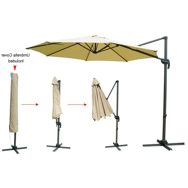 Tottenham Patio Hanging Offset Cantilever Umbrellas In Widely Used Tottenham Patio Hanging Offset 10' Cantilever Umbrella (View 15 of 25)