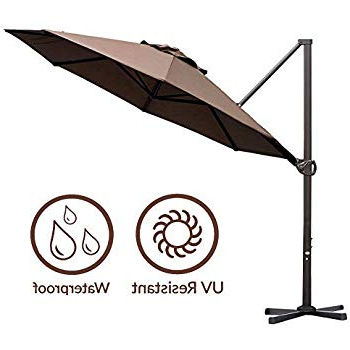 Tottenham Patio Hanging Offset Cantilever Umbrellas Regarding 2018 Amazon : Le Papillon 10 Ft Cantilever Umbrella Outdoor Offset (View 16 of 25)